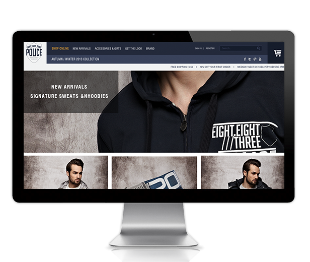 Client 883 Police, Development Ecommerce, Magento Customization at Nexia Commerce in Bangalore, India